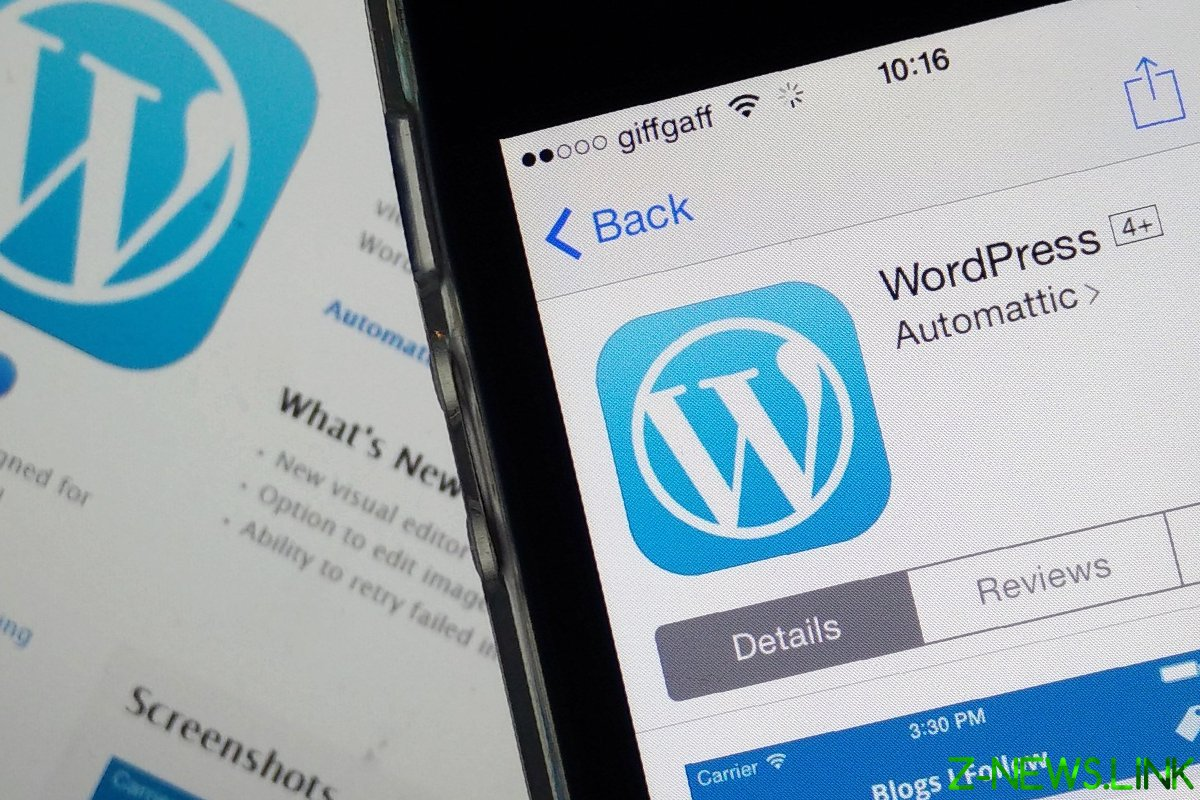 the WordPress site is a base for business development